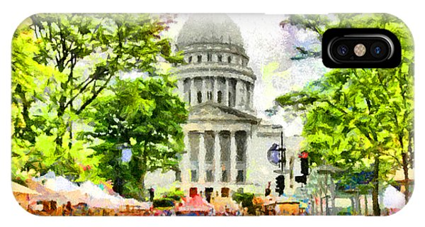 Capitol Building iPhone Case - Saturday In Madison by Anthony Caruso