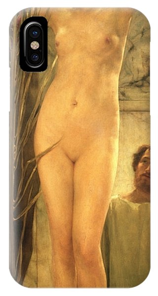 Figures iPhone Case - The Sculptor's Model by Sir Lawrence Alma-Tadema