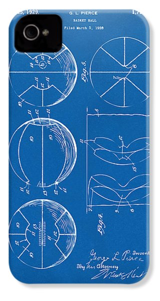1929 Basketball Patent Artwork - Blueprint IPhone 4 Case by Nikki Marie Smith