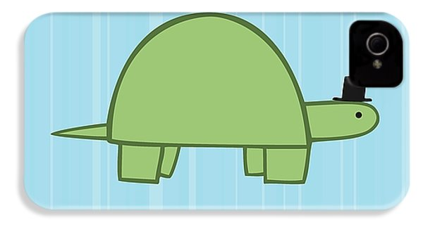 Nursery Art Boy Turtle IPhone 4 Case by Christy Beckwith
