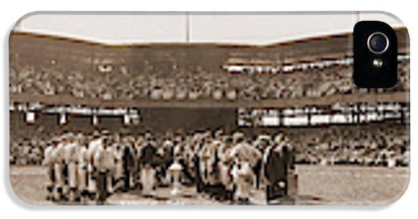 Washington Baseball Team, Johnson Jate IPhone 5 Case by Fred Schutz Collection