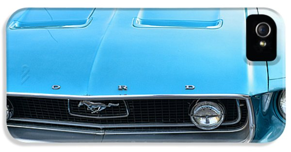 1968 Mustang Fastback Hood IPhone 5 Case by Paul Ward