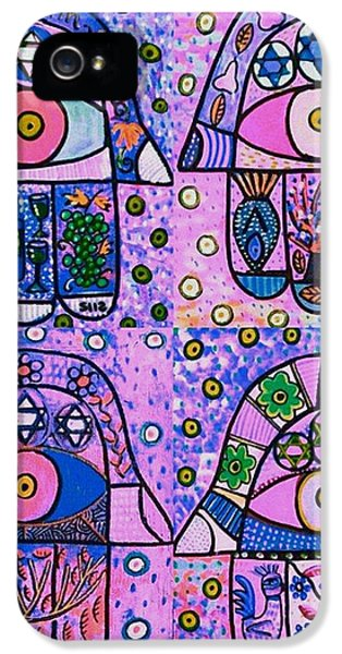 Four Pink Hamsa IPhone 5 Case