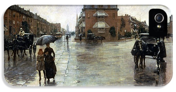 Hassam: Rainy Boston, 1885 IPhone 5 Case by Granger