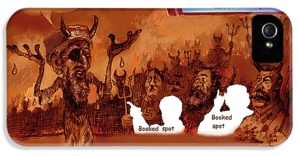 Hell Booked Up IPhone 5 Case by Ylli Haruni