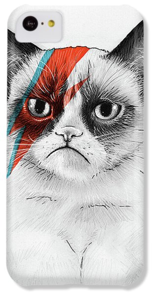 Grumpy Cat As David Bowie IPhone 5c Case