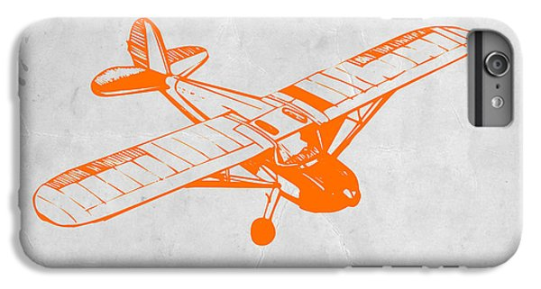 Airplane iPhone 6 Plus Case - Orange Plane 2 by Naxart Studio
