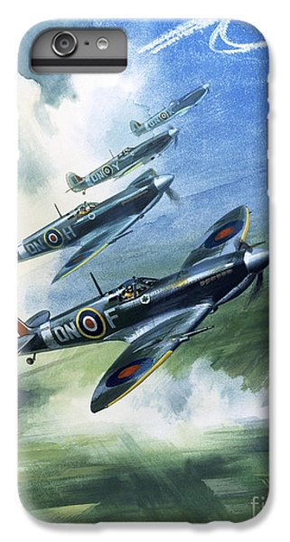 Airplane iPhone 6 Plus Case - The Supermarine Spitfire Mark Ix by Wilfred Hardy