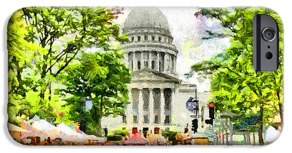 Capitol Building iPhone 6s Case - Saturday In Madison by Anthony Caruso