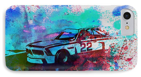 Bmw 3.0 Csl  IPhone Case by Naxart Studio