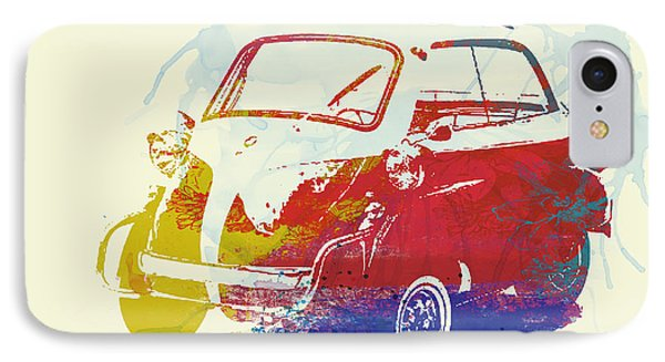 Bmw Isetta IPhone Case by Naxart Studio