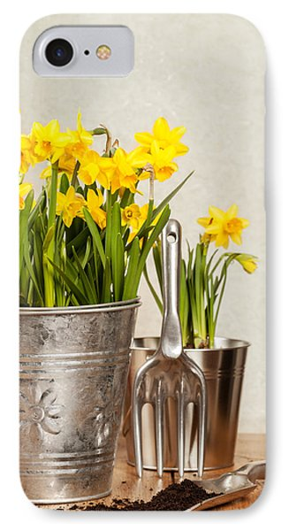 Buckets Of Daffodils IPhone Case by Amanda Elwell