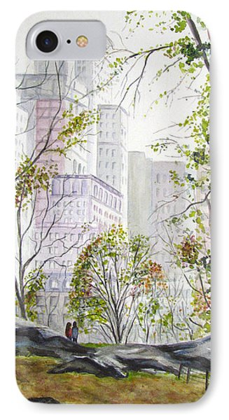 Central Park Stroll IPhone Case by Clara Sue Beym