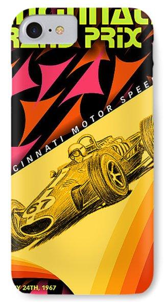 Cincinnati Grand Prix 1967 IPhone Case by Georgia Fowler
