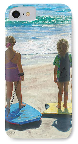 Girls On Boogie Boards IPhone Case by Steve Simon