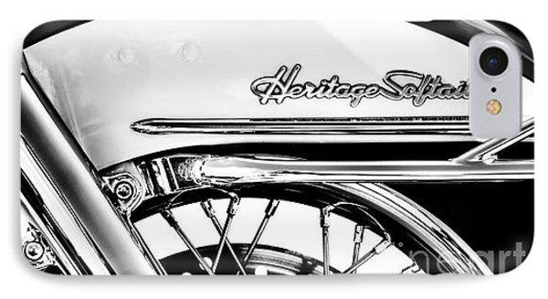 Harley Heritage Softail Monochrome IPhone Case