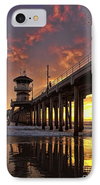Huntington Beach Pier IPhone Case
