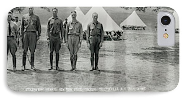 Officers At Camp Newayo, New York State IPhone Case by Fred Schutz Collection