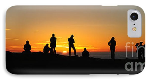 IPhone Case featuring the photograph Panorama Everyone Likes A Sunset by Vivian Christopher