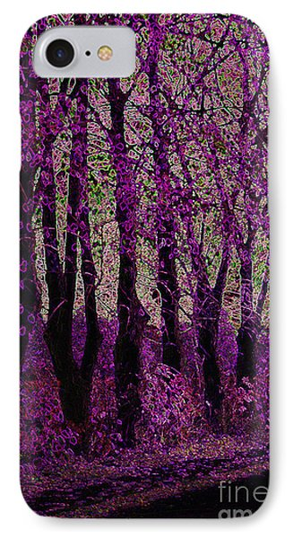 Purple Trees Phone Case by Carol Lynch
