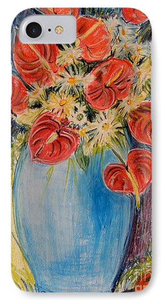 Red Calla Lilies Phone Case by Caroline Street