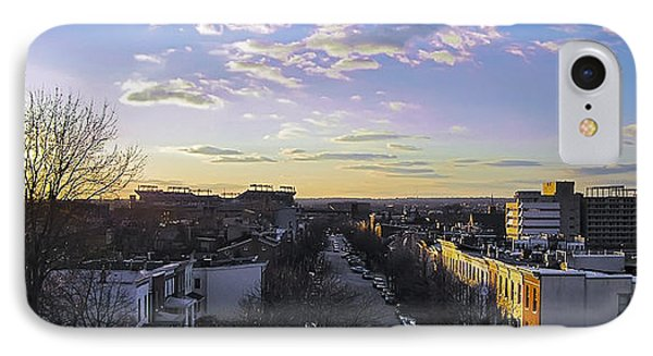 IPhone Case featuring the photograph Sunset Row Homes by Brian Wallace