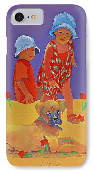 The Boxer Puppy Phone Case by Charles Stuart