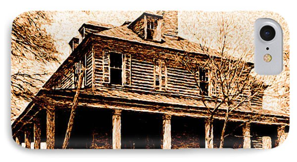 IPhone Case featuring the digital art This Old House by Chuck Mountain