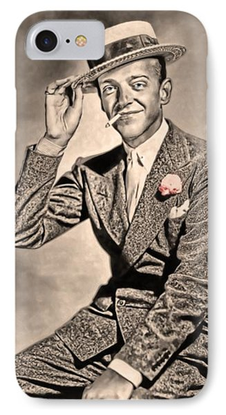 IPhone Case featuring the painting Young Mr.astaire by Tyler Robbins
