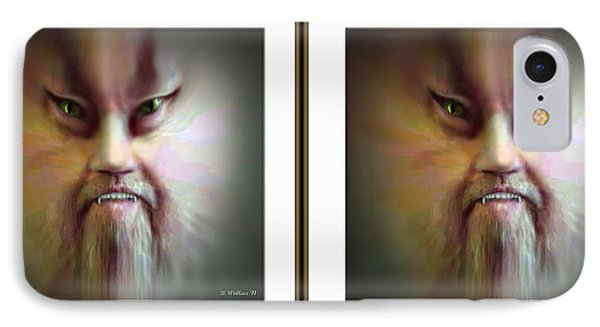 Halloween Self Portrait - Gently Cross Your Eyes And Focus On The Middle Image Phone Case by Brian Wallace