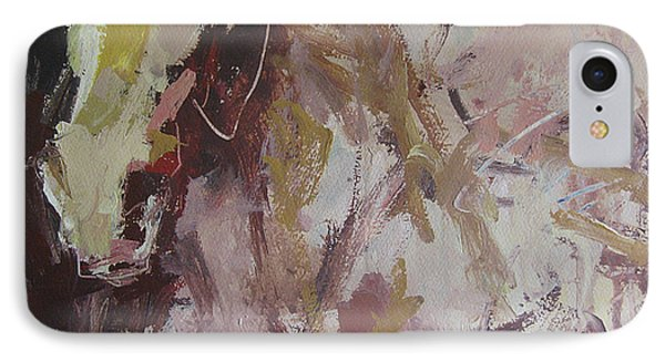 IPhone Case featuring the painting Abstract Horse  by Robert Joyner