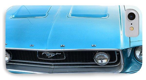 1968 Mustang Fastback Hood Phone Case by Paul Ward