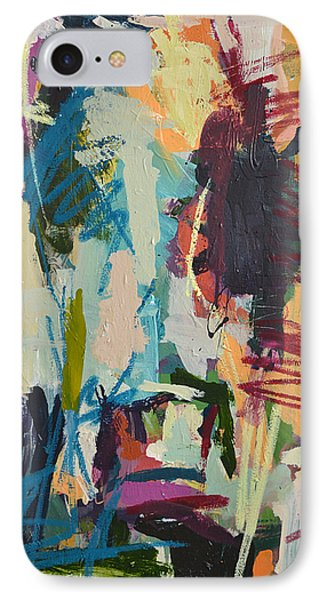 Modern Abstract Cow Painting IPhone Case by Robert Joyner