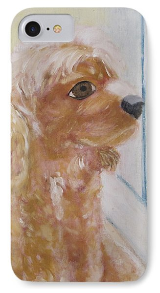 Rusty Aka Digger Dog Phone Case by Patricia Cleasby