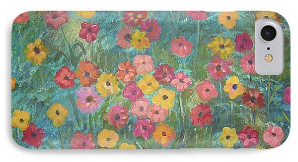 A Field Of Flowers IPhone Case by John Keaton