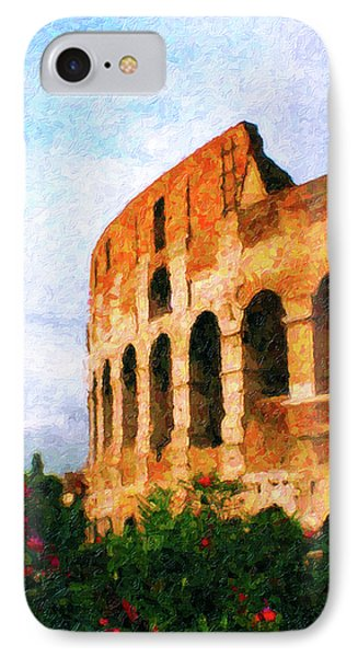 Afternoon In Rome IPhone Case by Rob Tullis