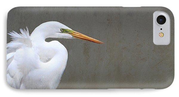 Portrait Of An Egret Rectangle IPhone Case by Karen Lynch