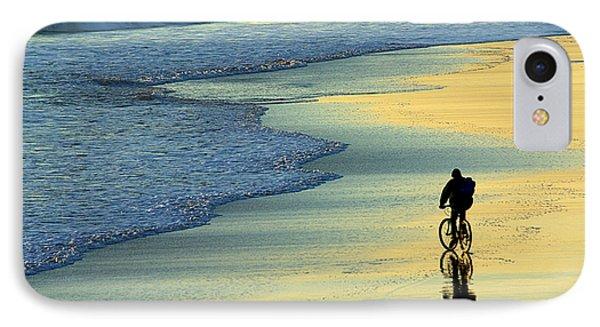 Beach Biker IPhone Case by Carlos Caetano