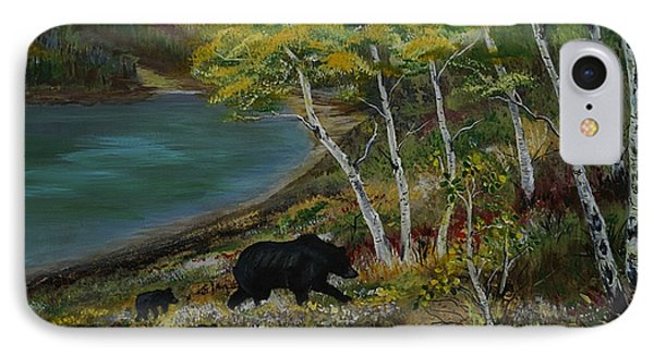 Bear Country Phone Case by Leslie Allen