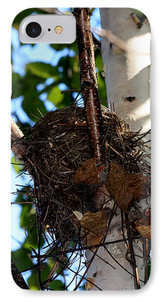 Bird Nest In Birch Tree IPhone Case