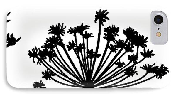 Black And White Dandelion Part 2 Phone Case by Nomi Elboim