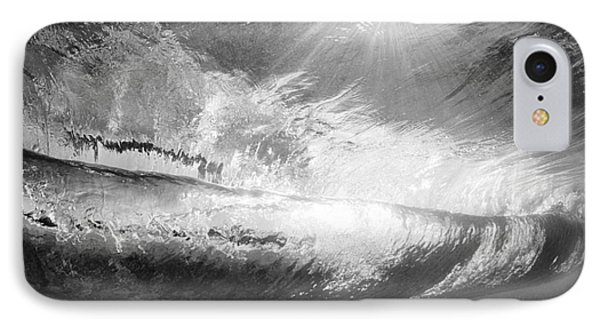 Black And White View Under Wave Phone Case by MakenaStockMedia - Printscapes