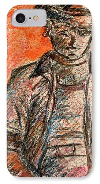 IPhone Case featuring the painting Boy In Red by Cathie Richardson