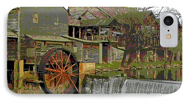 IPhone Case featuring the photograph By The Old Mill Stream by Larry Bishop