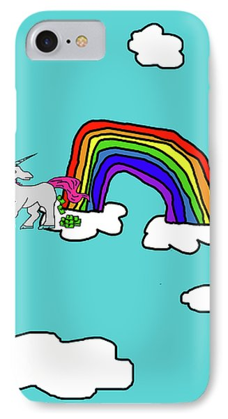 Cash Crap Unicorn IPhone Case by Jera Sky