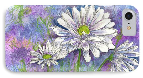 IPhone Case featuring the painting Daisy Three by Cathie Richardson