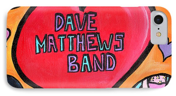 Dave Matthews Band Tribute IPhone Case by Jera Sky