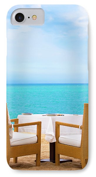 Dinner On The Beach Phone Case by MotHaiBaPhoto Prints