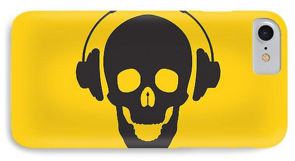 Dj Skeleton IPhone Case by Pixel Chimp