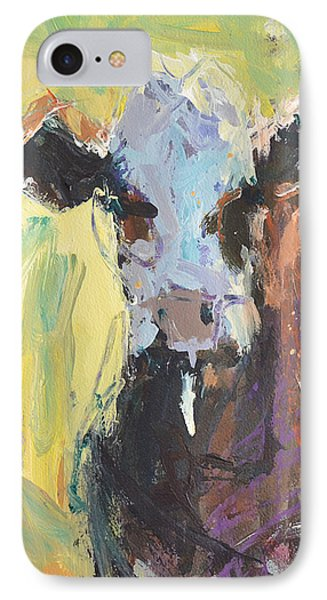 IPhone Case featuring the painting Expressive Cow Artwork by Robert Joyner